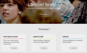 l'atelier breton - plateforme participtive de la région bretagne