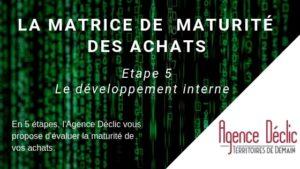 Matrice maturité - développement interne