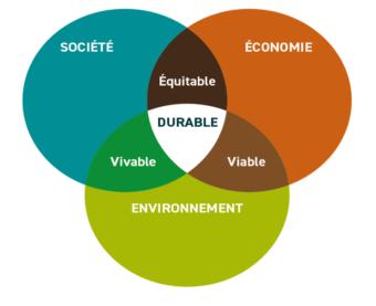 Schéma qu'est-ce que le développement durable ?