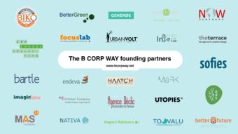 The B Corp Way partners logo slide